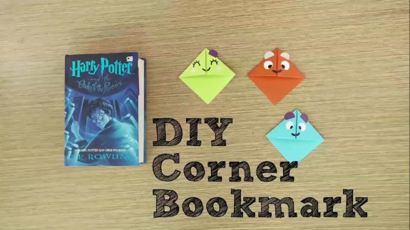 Yoo Tips: DIY Corner Bookmark